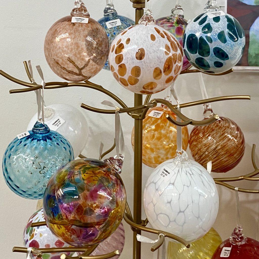 Cheerful Hand Blown Glass Balls by Michelle Trammel