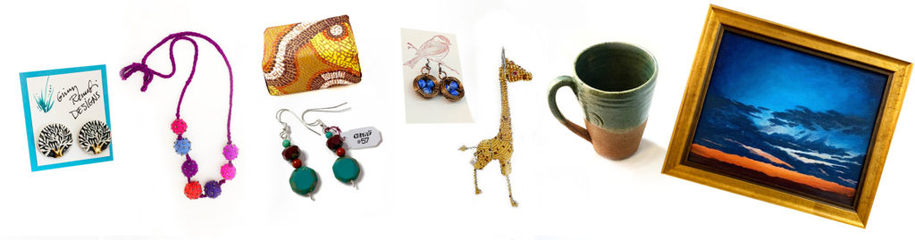 Assortment of handmade products available in The Gallery@57